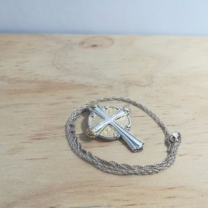 Gorham Sterling cross with 24 in chain.